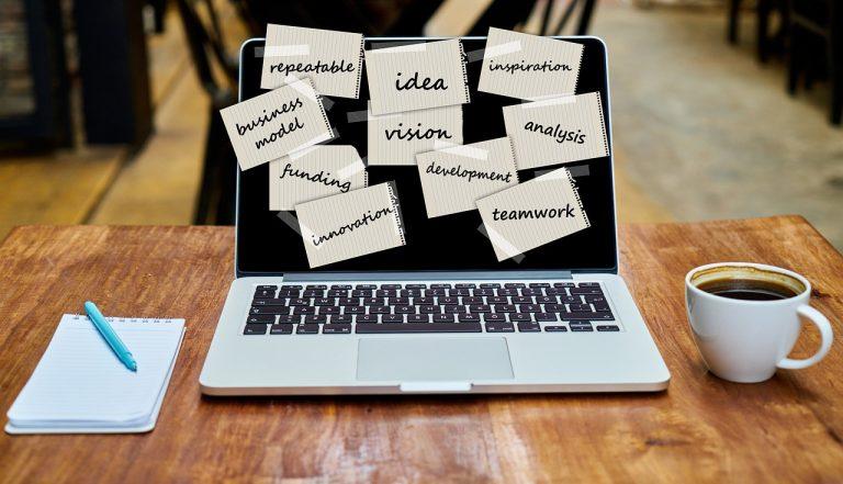laptop, startup, vision