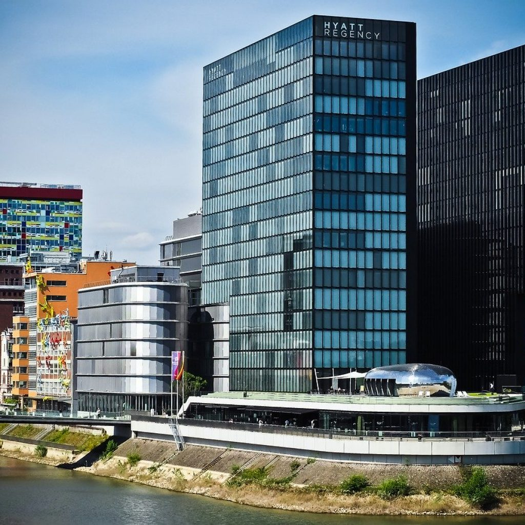 architecture, media harbour, düsseldorf